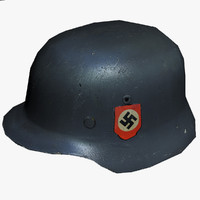 3d ww2 german stahlhelm
