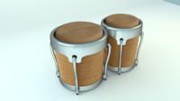 3d bongo drums