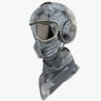 combat gear military helmet 3d model
