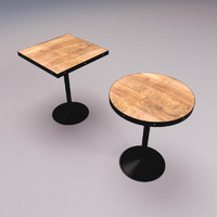 3d model of bar cafe tables
