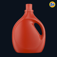 3d model tide bottle