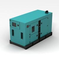generator blue 3d model