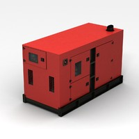 3d red generator model