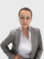 3d model of woman businesswoman