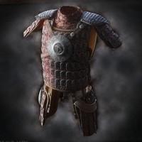 3d fantasy lamellar armor model