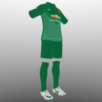 3d soccer kit clothes manchester united