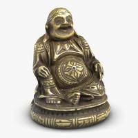 3d monk sculture 2 model