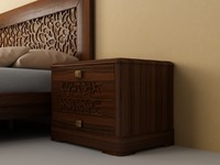 bed nightstand 3d model