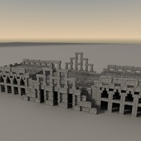 ancient fantasy building 3d obj