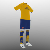 3d soccer kit clothes arsenal model