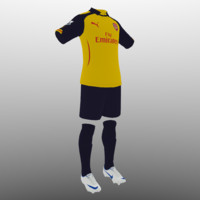 soccer kit clothes arsenal 3d 3ds