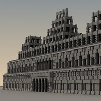 3d ancient fantasy building model