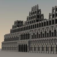 3d ancient fantasy building model