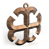 3d pendant france cross facet