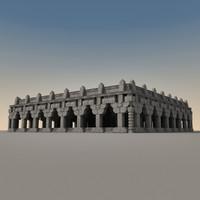 3dsmax ancient fantasy building