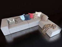 maya realistic sofa