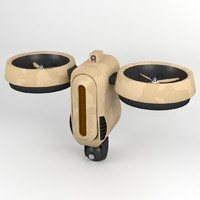 Futuristic Surveillance Drone