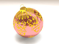 christmas tree ornament 3ds