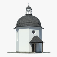 3d silent night chapel model