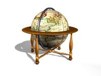 3d terrestrial floor globe