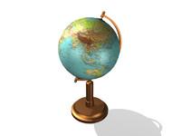 terrestrial desk globe 3d model