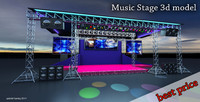 3d stage musical concerts model