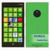 3d lumia 830