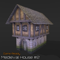 3d model ready medieval house