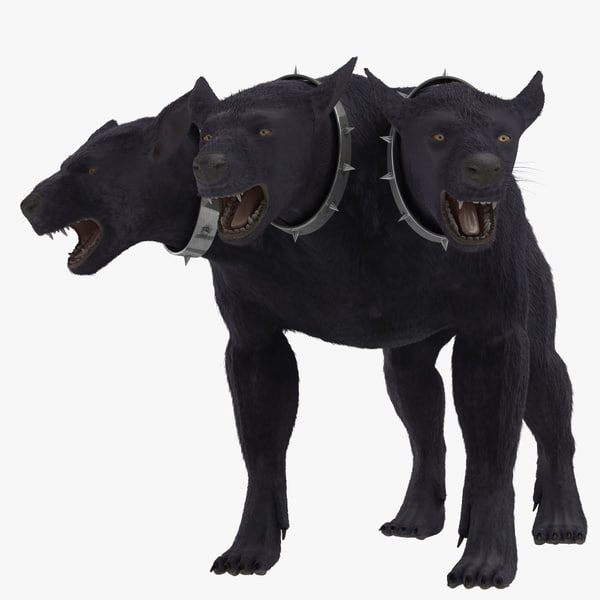 I Am Legend Monsters Dogs 3d model of Three-Head...