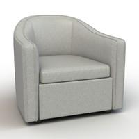bright barrel lounge chair 3d model