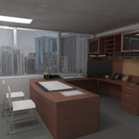 corporate chief directors office 3d model