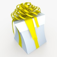 3d max christmas gift present box