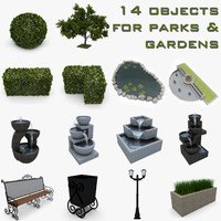 3d model garden park