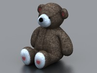 3d bear animal plush model