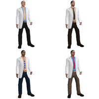 3d pack rigged doctor