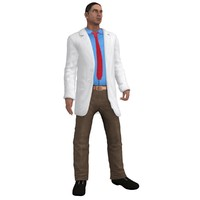 3d model rigged doctor