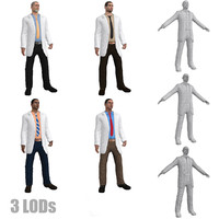 3d pack doctor rigged model