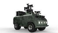 obj military robot gun