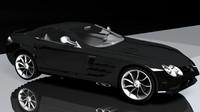3d model car mercsedes mclaren