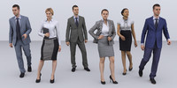 3dhumanity  business collection x6 Pack