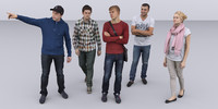 3dhumanity casual collection  x5 Pack