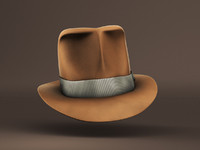 hat fedora adventure c4d