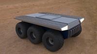 3d model car military platform