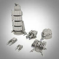 Sci-fi turrets collection