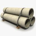 concrete pipe 3D models