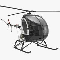 3d model helicopter schweizer