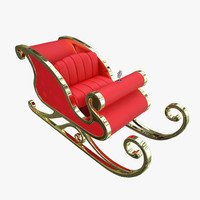3d santa claus sleigh model