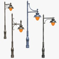 street lamps 4 3d 3ds