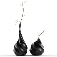 swirl vases 3d max