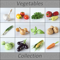 realistic vegetables 3d 3ds